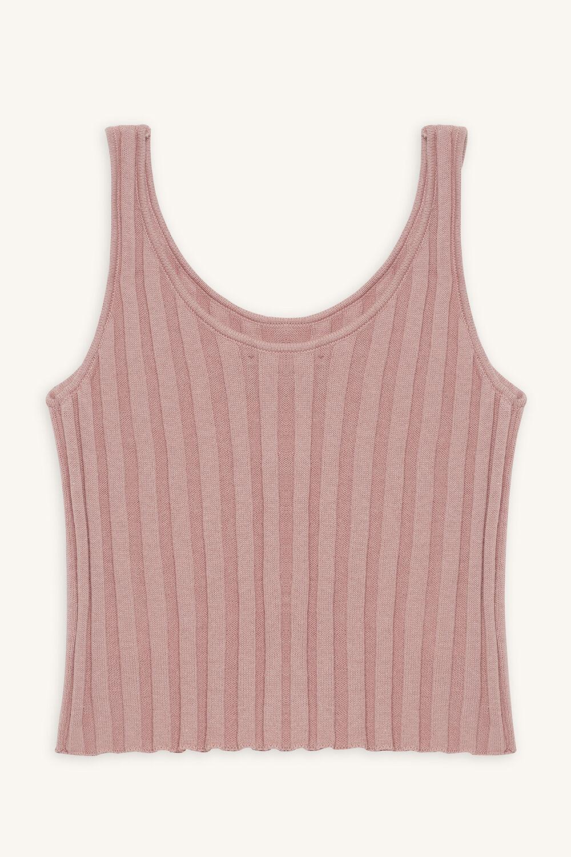 STELLA KNIT TANK in colour ROSE SMOKE