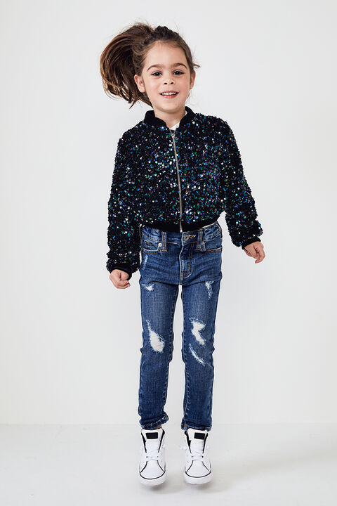 JUNIOR GIRL NIKKI SEQUIN BOMBER