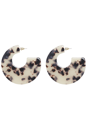 WIDE FLAT HOOP in colour TORTOISE SHELL