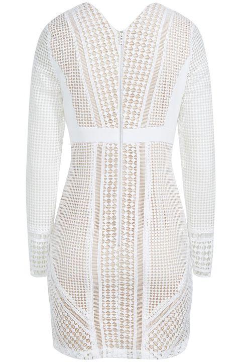 LIDIA LACE DRESS in colour BRIGHT WHITE