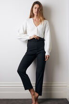 THERESE BUCKLE PANT in colour CAVIAR