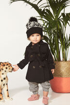 PONTI TRENCH COAT in colour JET BLACK