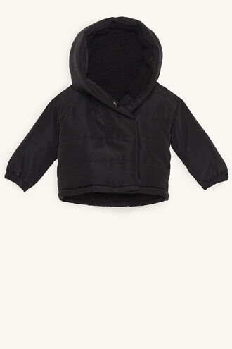 LINEAR PUFFER JACKET in colour CAVIAR