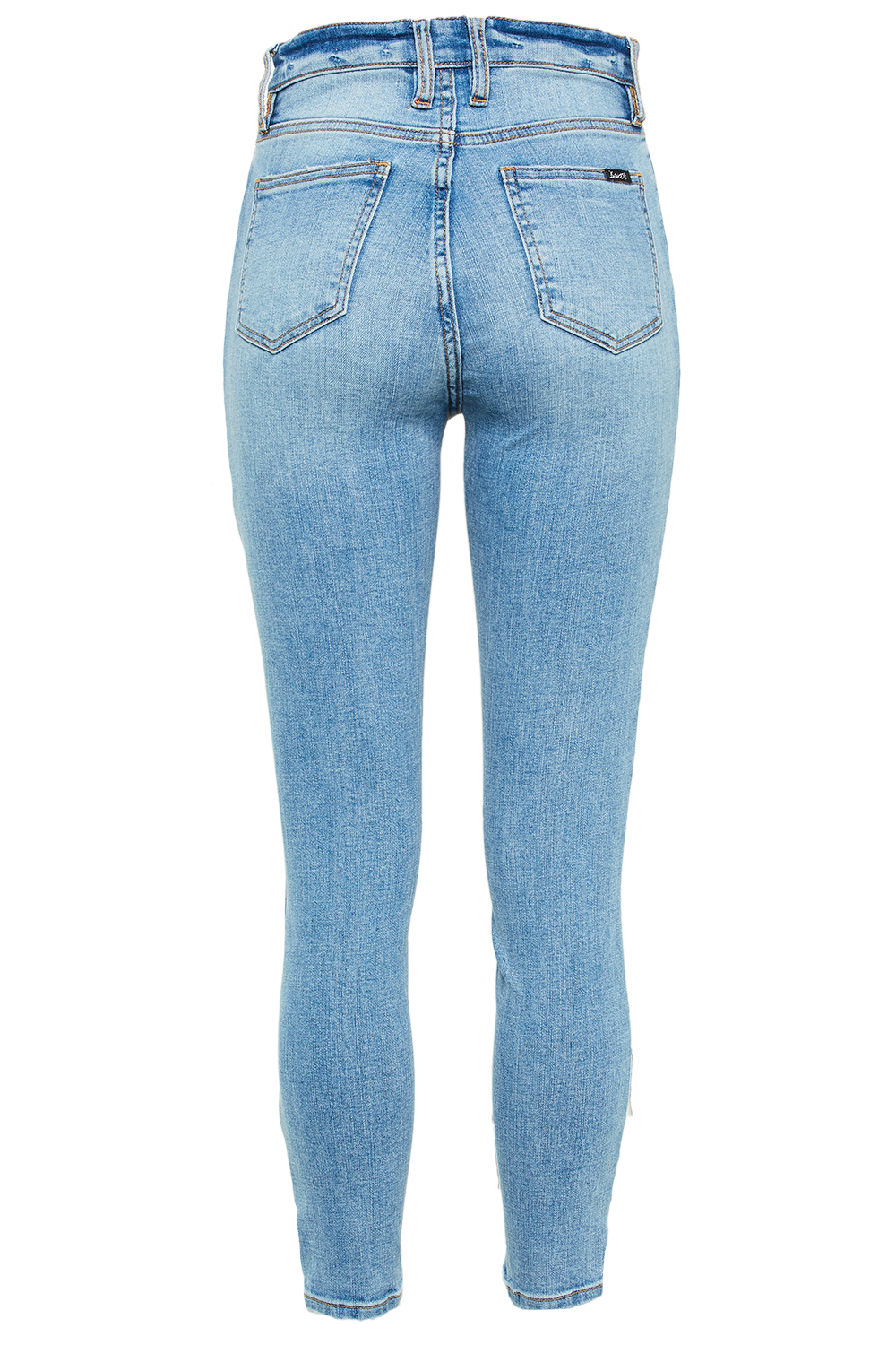 KHLOE HI CROP JEAN in colour NIGHTSHADOW BLUE