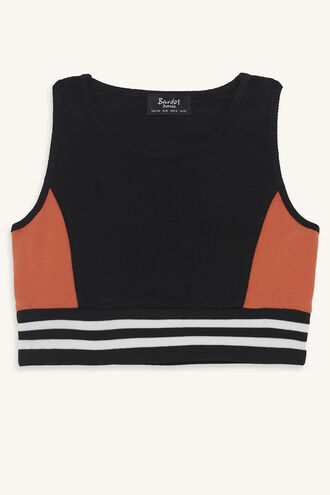 RIZZO SPORTS CROP in colour JET BLACK