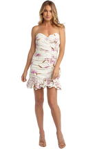 FLORAL PRINT DRESS in colour BLANC DE BLANC