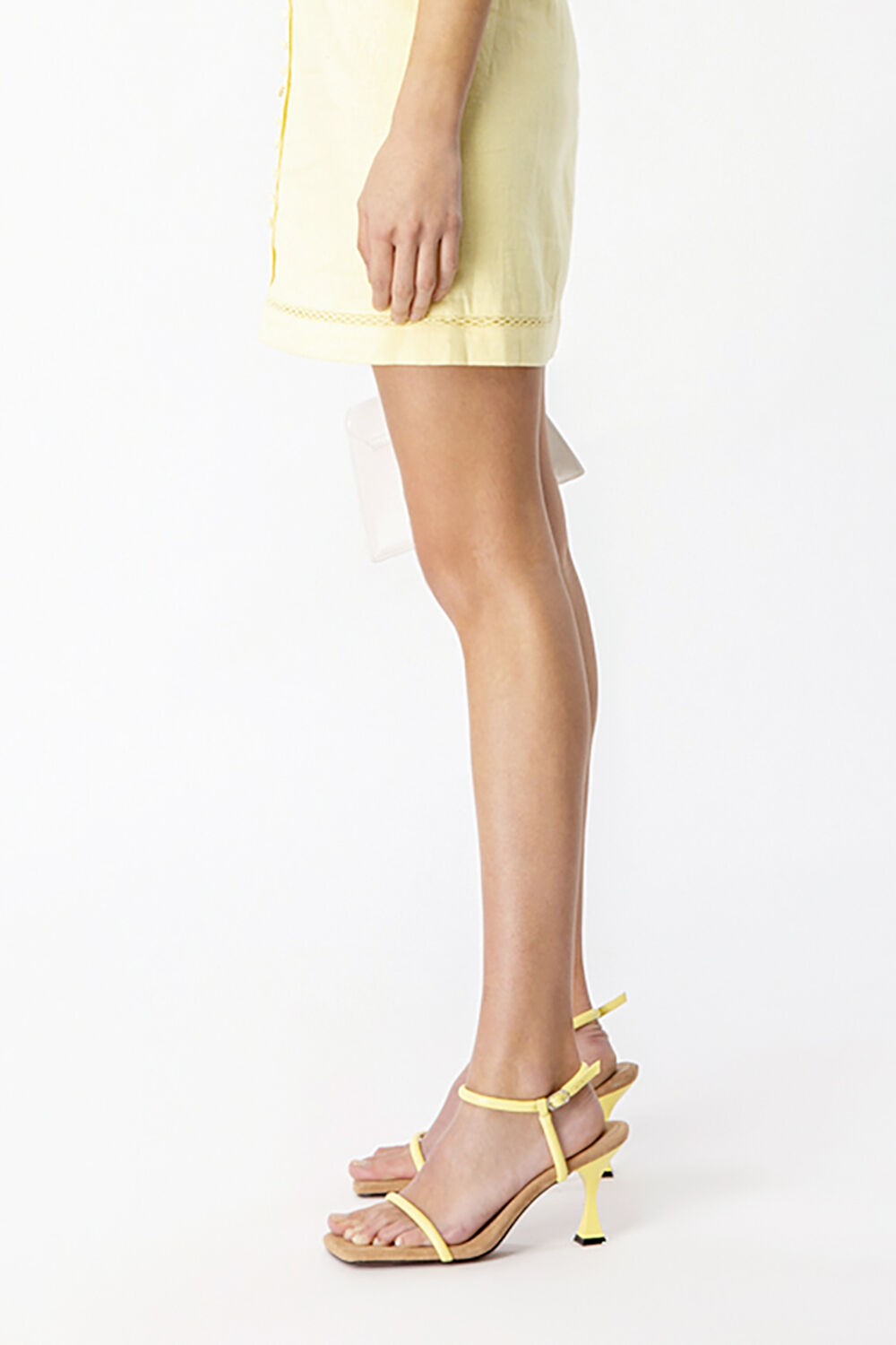 MILA STRAPPY HEEL in colour TRANSPARENT YELLOW
