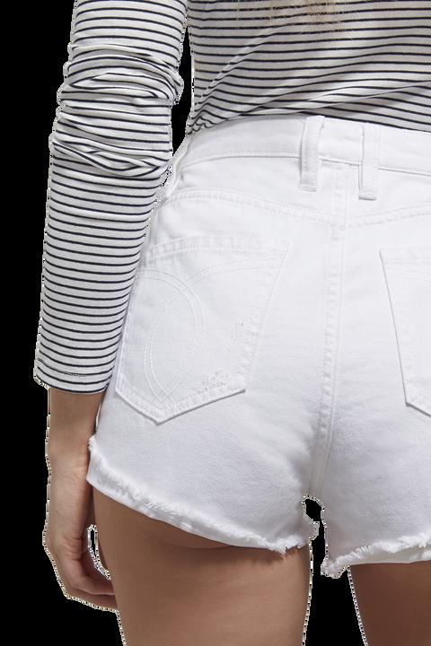 FRANKIE DENIM SHORT in colour BRIGHT WHITE