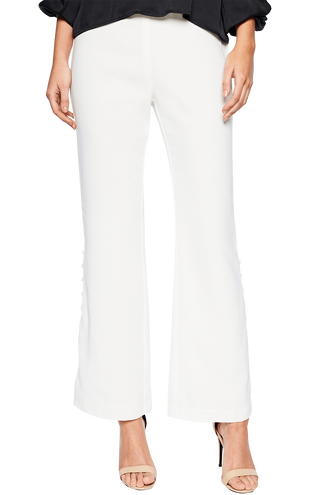 EVA BUTTON SIDE PANT in colour CLOUD DANCER
