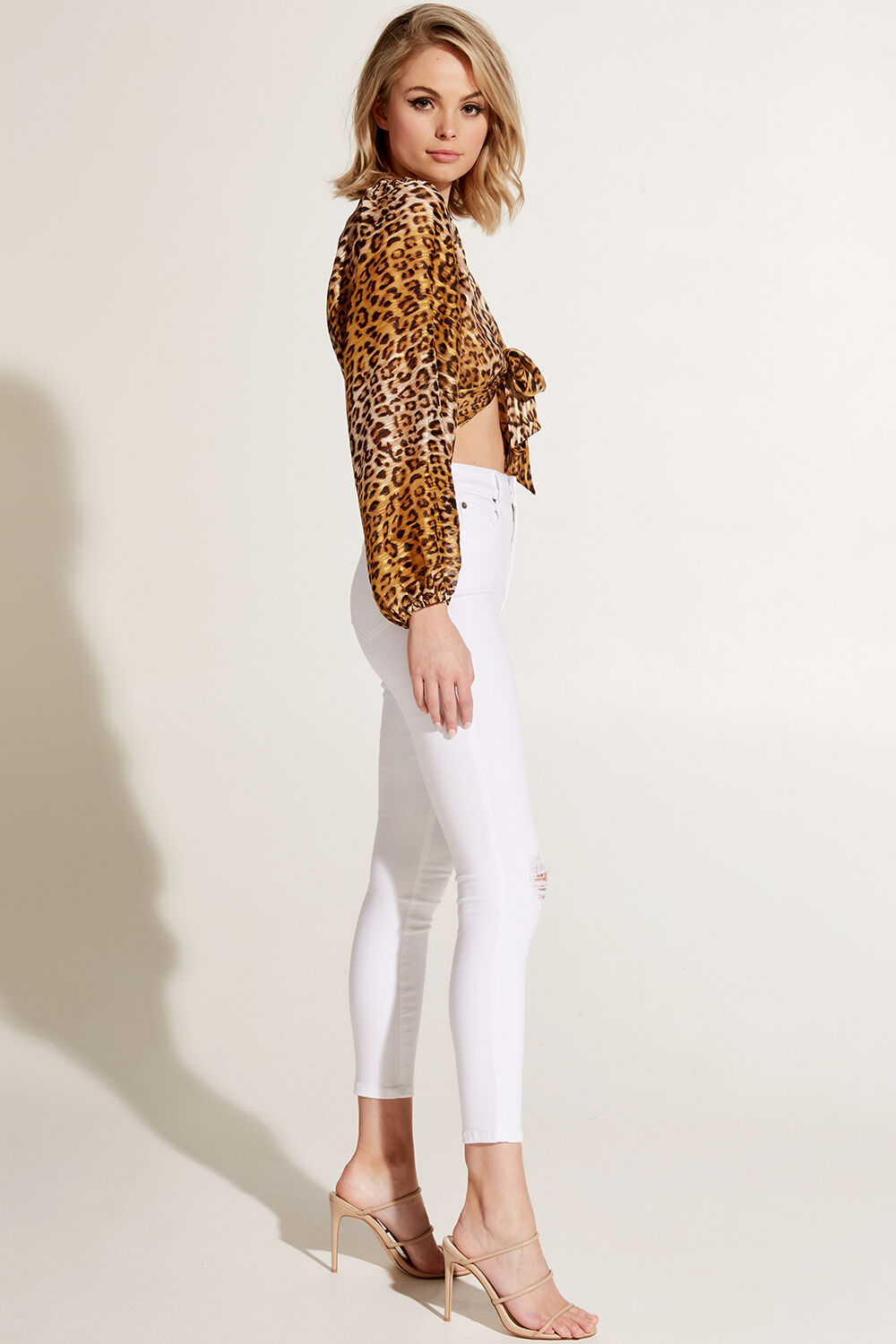 ELEANOR LEOPARD TOP in colour CATHAY SPICE