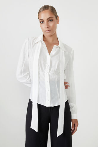 CHIARA BLOUSE in colour CLOUD DANCER