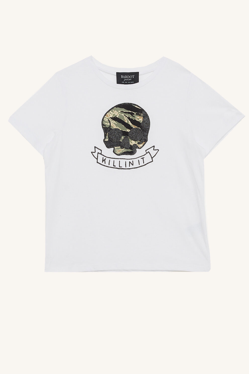 KILLIN IT TEE in colour BRIGHT WHITE