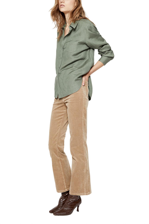 AURORA LINEN BLEND SHIRT in colour IVY GREEN