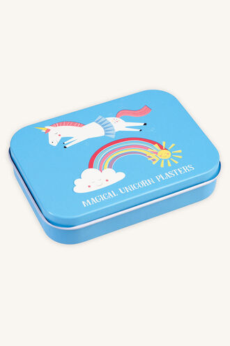 PLASTERS IN TIN - UNICORN in colour BRIGHT WHITE