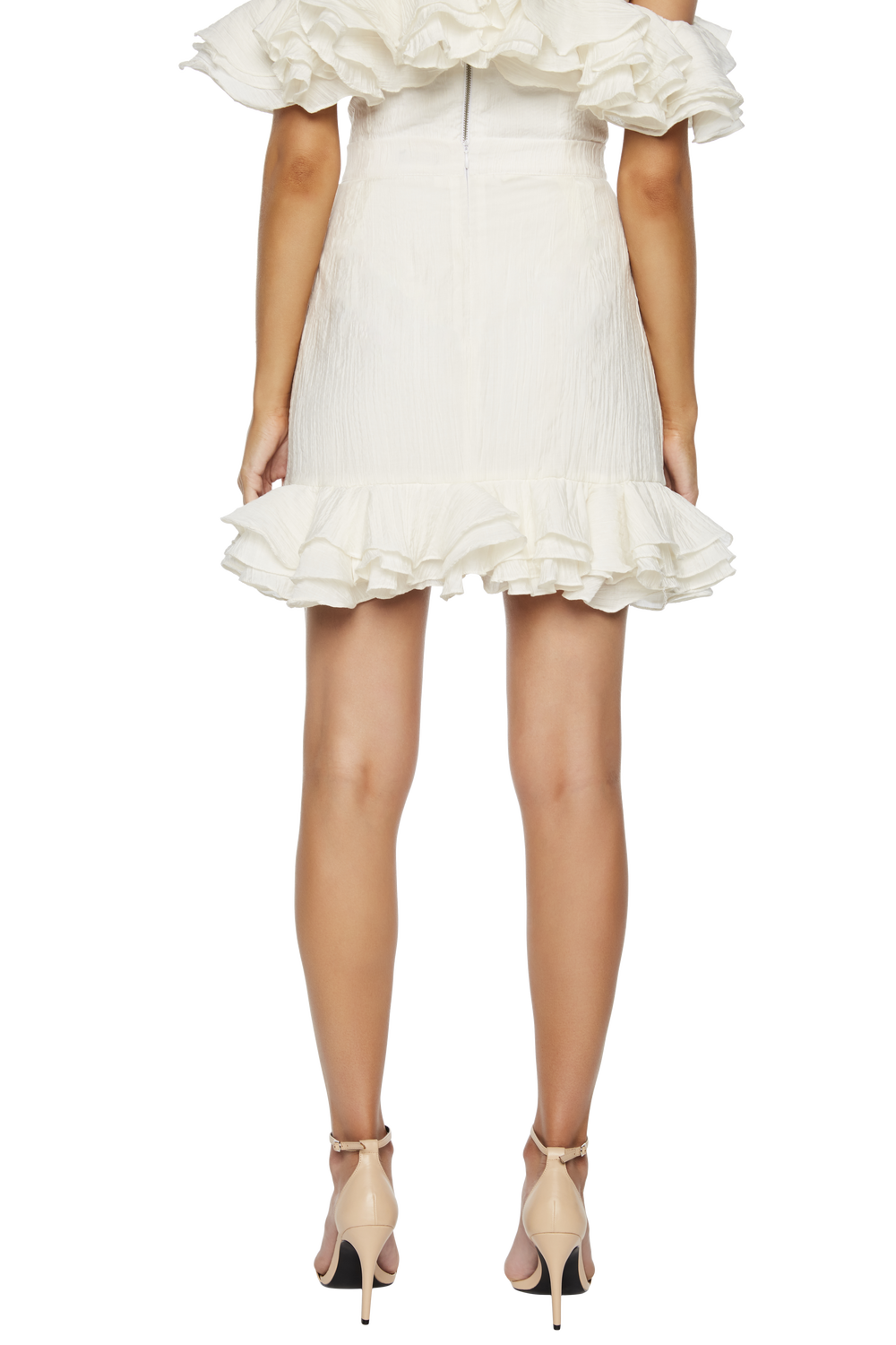 RUFFLE SKIRT in colour CLOUD DANCER
