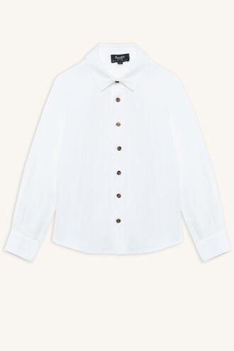 LINEN BEACH SHIRT in colour BRIGHT WHITE