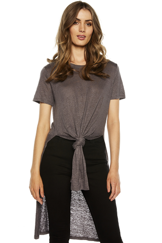 TYLA LINEN TEE in colour FROST GRAY