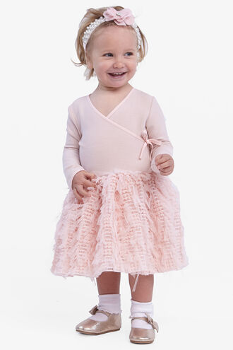 WRAP BALLET DRESS in colour CRYSTAL PINK
