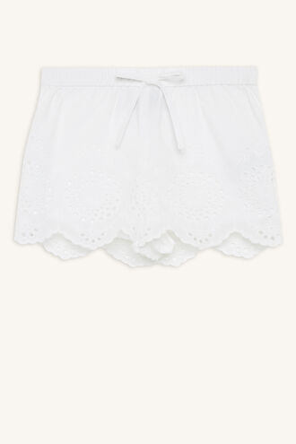 PENNY BRODERIE SHORT in colour BRIGHT WHITE