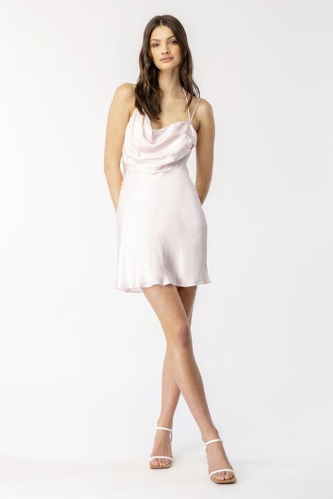ASTRID MINI DRESS  in colour SOFT PINK