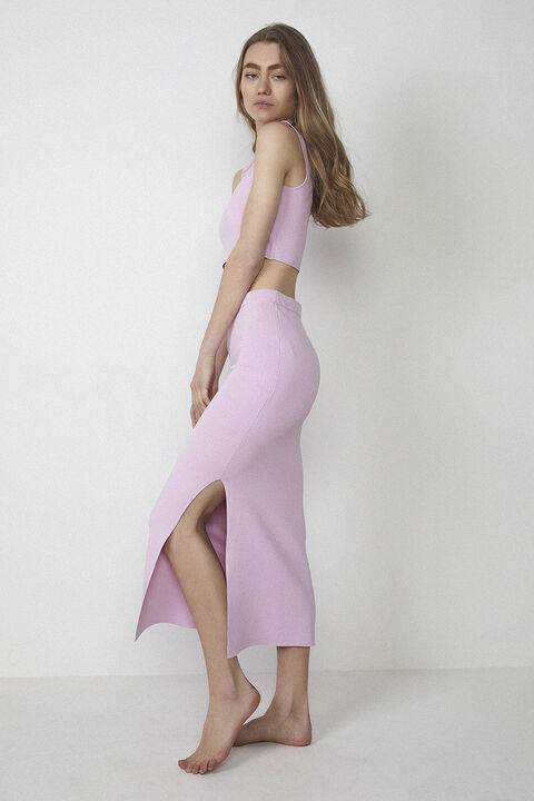 MARYANNE KNIT SKIRT in colour PINK LADY