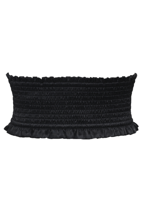 SHIRRED CORSET BELT in colour CAVIAR