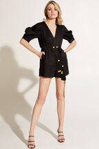 MARRAKESH BEAD PLAYSUIT in colour CAVIAR