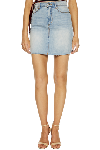 TUSK MINI BLUE DENIM SKIRT in colour TRUE NAVY