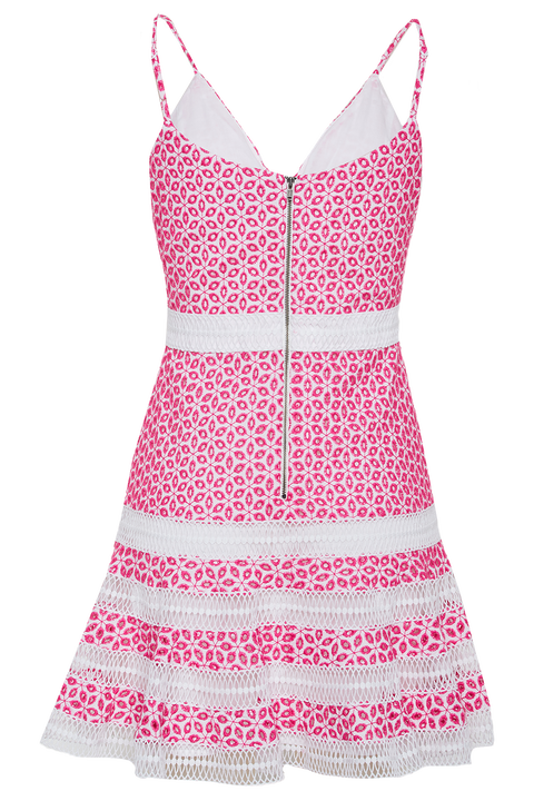 CAMILLE DRESS in colour SHOCKING PINK