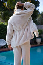 KARA FAUX FUR JACKET in colour ANTIQUE WHITE
