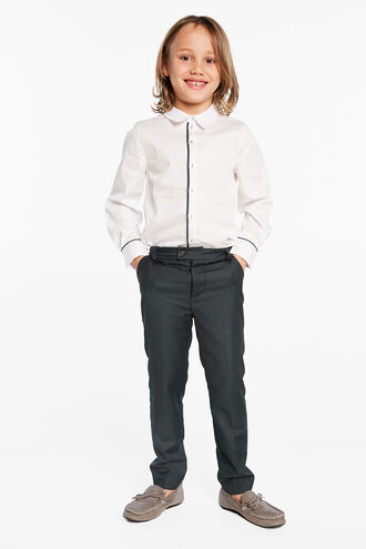 ADEN TRIM SHIRT in colour BRIGHT WHITE