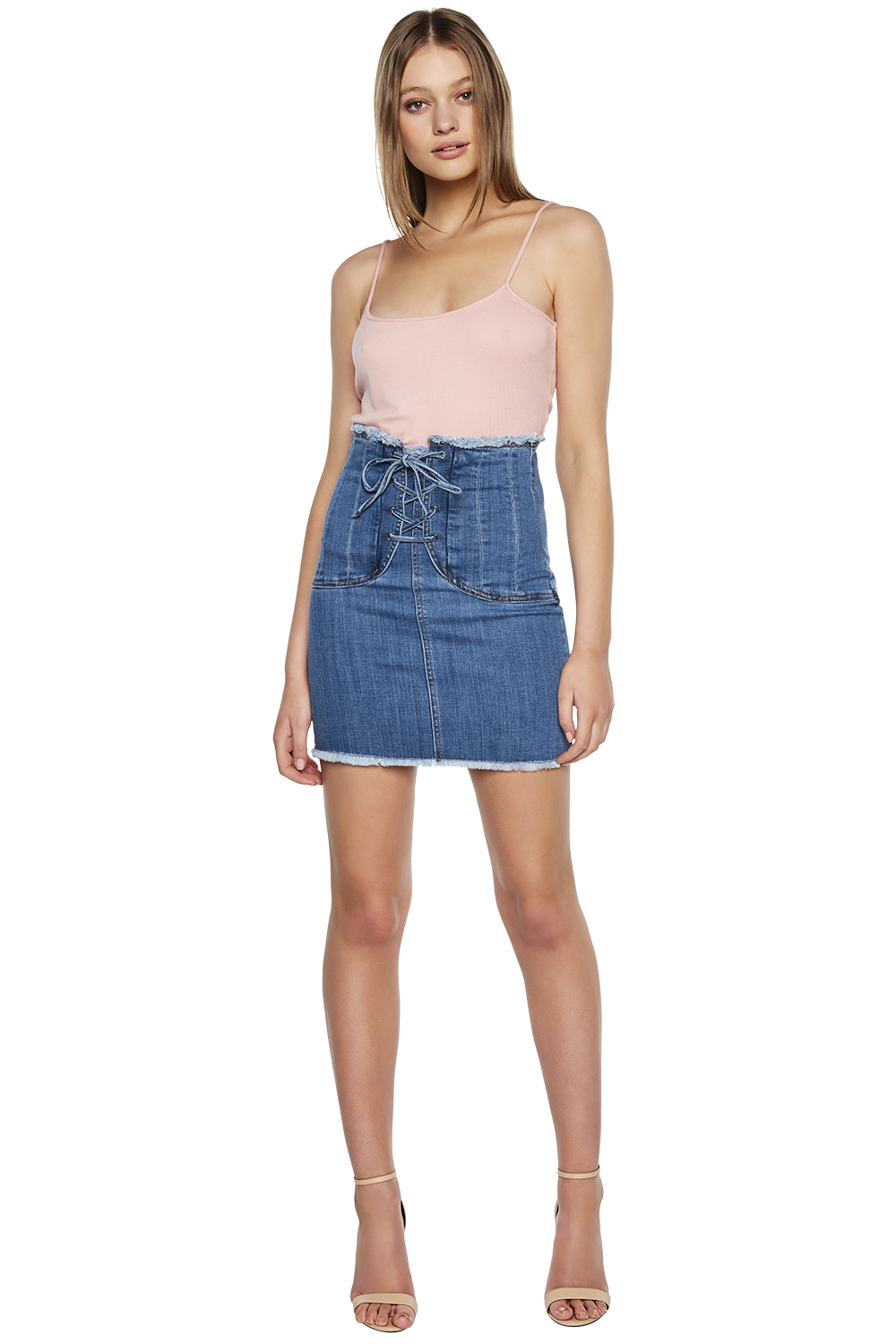 size 7 get new discount up to 60% CORSET DENIM SKIRT