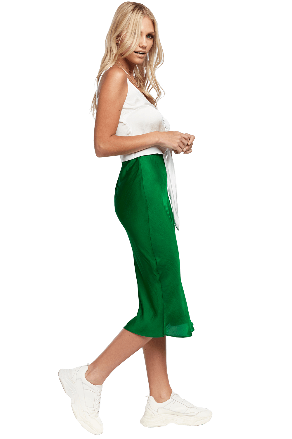 MAYAH MIDI SKIRT in colour CLASSIC GREEN