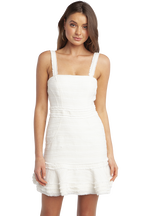 MELANIA BOUCLE DRESS in colour BRIGHT WHITE