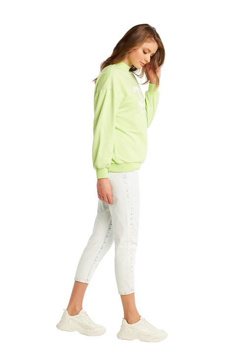 NEON SWEATER in colour LIMELIGHT