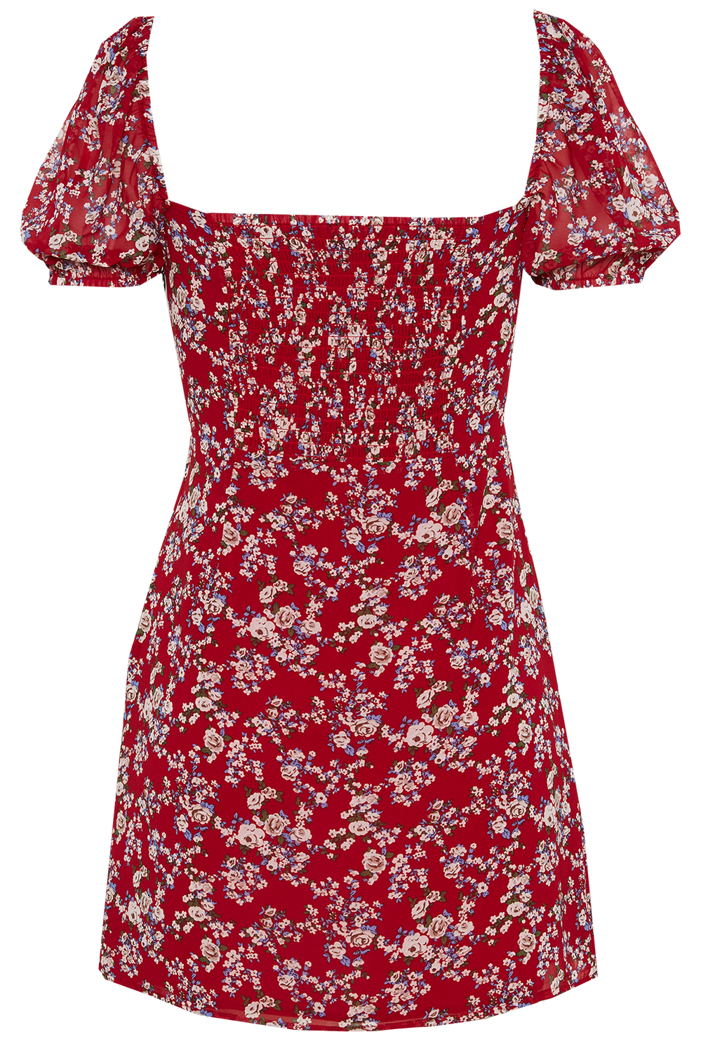 JUNIPER MINI DRESS in colour TOMATO
