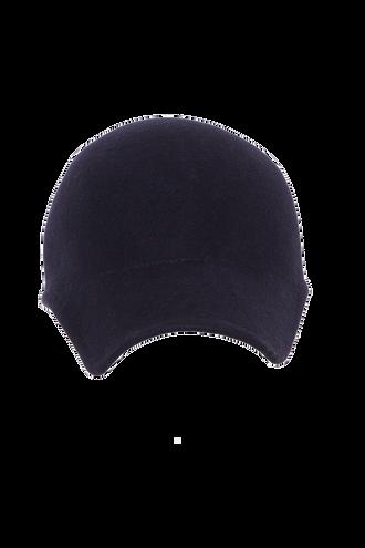MOULDED WOOL FELT CAP in colour BLACK IRIS