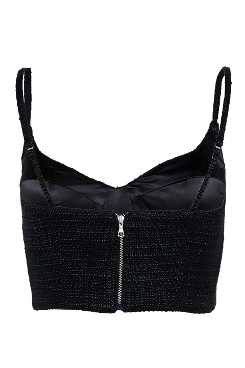 CARTER BUSTIER TOP in colour CAVIAR
