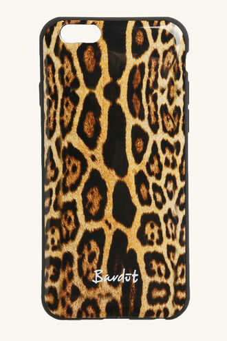 LEOPARD PHONE COVER in colour BONE BROWN