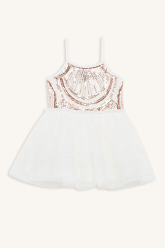 MEIKA TUTU DRESS in colour CLOUD DANCER