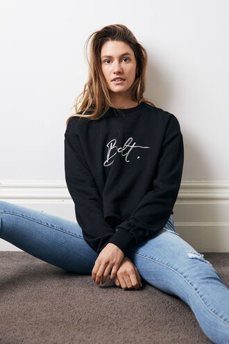 BDT SWEATER in colour CAVIAR