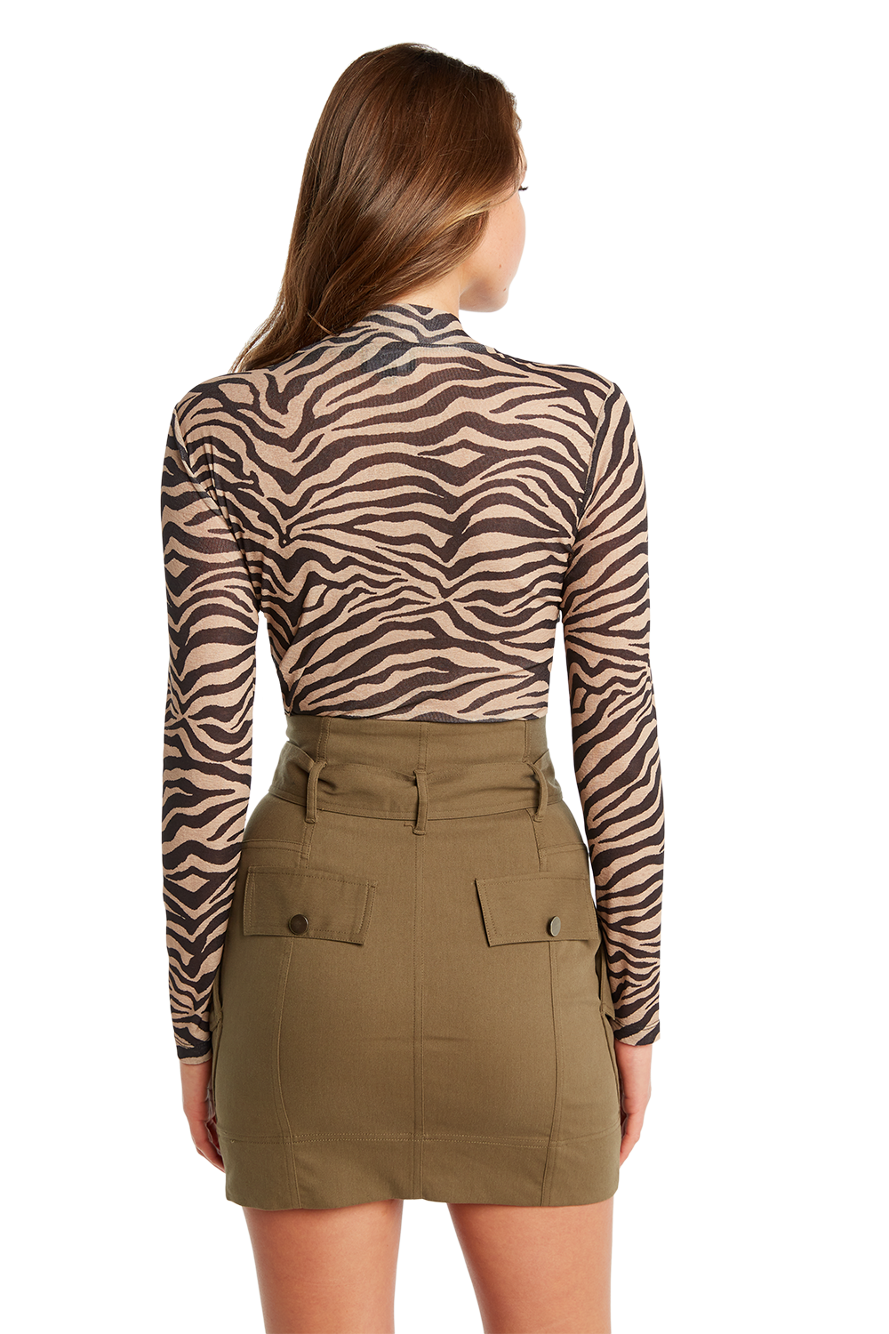 ZEBRA MESH TOP in colour TAPIOCA