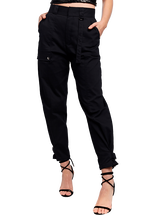 RILEY CARGO PANT in colour CAVIAR