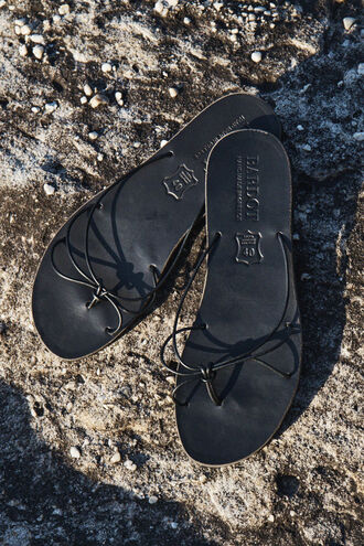 BELLA SLIDE SANDAL in colour METEORITE