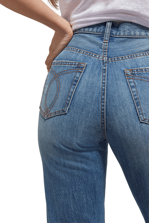 WINONA FLARE JEAN in colour DUSTY BLUE