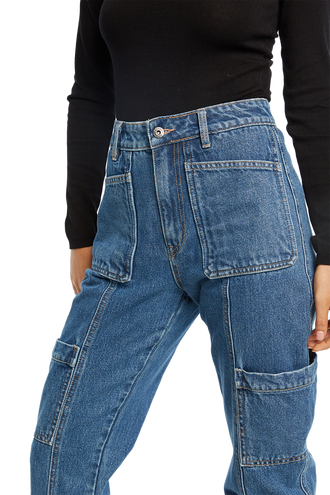 TEGAN PATCH PKT JEAN in colour TRUE NAVY