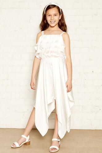 ADDY HANKY DRESS in colour CLOUD DANCER