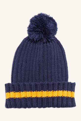 STRIPE BEANIE in colour BLACK IRIS