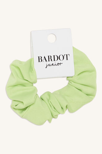 NEON SCRUNCHIE in colour GREEN ASH