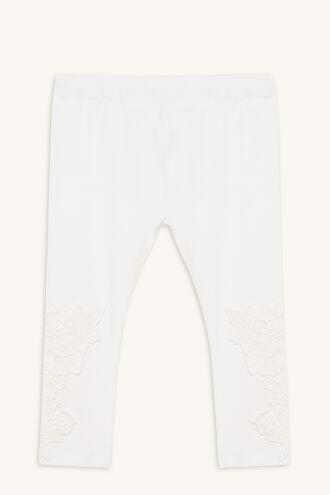 LACE MOTIF LEGGING in colour BRIGHT WHITE